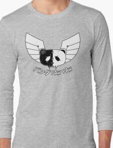 Panda Paw Paw Winged Bison Design (White) Long Sleeve T-Shirt