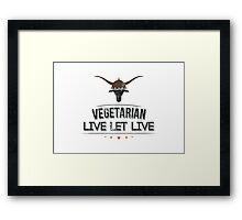 Vegan Vegetarian Framed Print