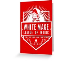 League of Magic: White Greeting Card