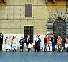 Taxi Queue - Rome by Flo Smith