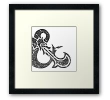 dungeons&Dragons black ampersend Framed Print