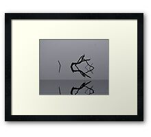 Adrift in Fog, without Direction Framed Print
