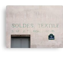 Sign on a Paris wall Canvas Print