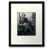 Soldier writing letter - Władysław T. Benda - 1919 Framed Print