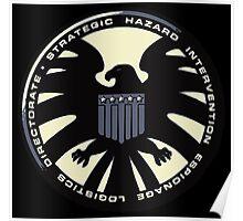 Distressed Classic S.H.I.E.L.D. Logo Poster