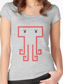 square octopus Women's Fitted Scoop T-Shirt