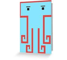 square octopus Greeting Card