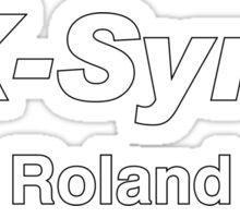 Ax synth roland white Sticker