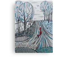 Frosty morning for Foxy Canvas Print
