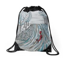 Frosty morning for Foxy Drawstring Bag