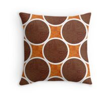 Chocolate Orange Throw Pillow