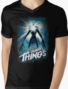 Stranger Things The Thing Mashup Mens V-Neck T-Shirt