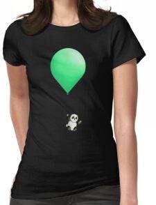 Panda Balloon  Womens Fitted T-Shirt