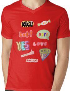 Snapchat Stickers Mens V-Neck T-Shirt
