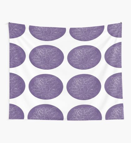 Purple Ovaled Nature Wall Tapestry