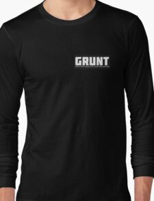 GRUNT for gay, bi and queer trans men Long Sleeve T-Shirt