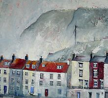 Misty Day, Staithes by Sue Nichol