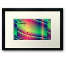 Tropic Moire Framed Print