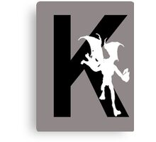 K is for Krillitane Canvas Print