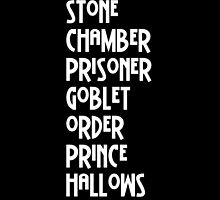 Harry Potter Titles by aimeedraper