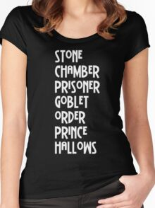 Harry Potter Titles Women's Fitted Scoop T-Shirt