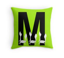 M is for Macra Throw Pillow