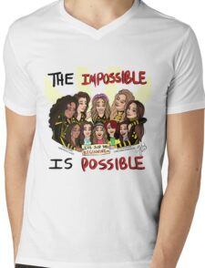 The impossible IS possible Mens V-Neck T-Shirt