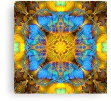 BLUE MORPH GATHERING Canvas Print