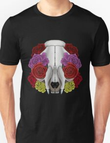 Cat Skull and Roses Unisex T-Shirt