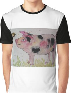 Spotty Pig and a Bumble  Graphic T-Shirt