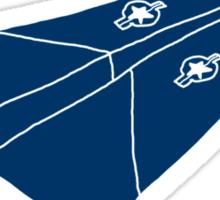 Paper Airplane 11 Sticker