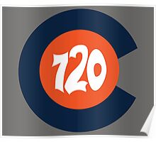 Hand Drawn Colorado Flag 720 Area Code Broncos Poster
