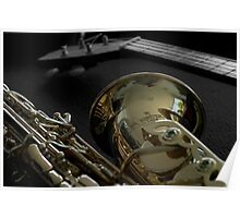Sax and Guitar Poster