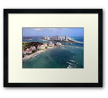 Approaching Miami Beach Framed Print