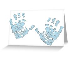 Blue Baby Hands Greeting Card
