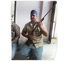 Sikh Posing with Rifle Poster