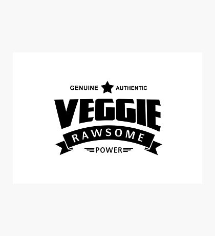 Veggie Rawsome Power Photographic Print