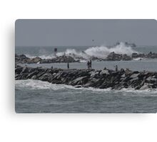 Rough Seas to Block Island Canvas Print