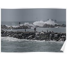 Rough Seas to Block Island Poster