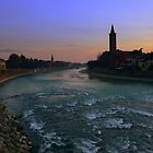 Verona at sunset by annalisa bianchetti
