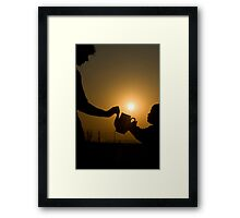 """""""Can We Catch The Sun?"""" Free State, South Africa Framed Print"""
