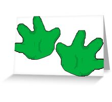 Hands Off Greeting Card