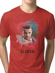 Eleven - Stranger Things - Canvas Tri-blend T-Shirt