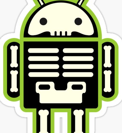 Android skeleton Sticker