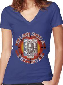 Shaq Soda Women's Fitted V-Neck T-Shirt