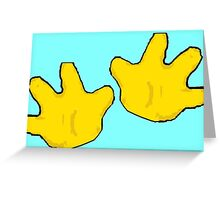 Hands Across the Water Greeting Card