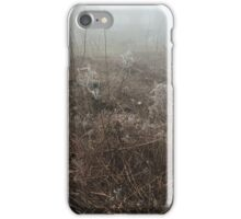 Spiderwebs in Fog iPhone Case/Skin