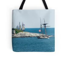 Around the Point and Out to Sea Tote Bag
