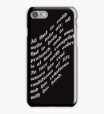 All that is holy is profaned iPhone Case/Skin