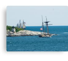 Around the Point and Out to Sea Canvas Print